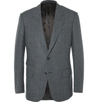 Kingsman Grey Slim Fit Prince Of Wales Checked Wool Blazer Gray