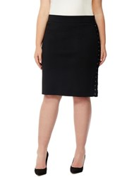Rebel Wilson X Angels Plus Size Women's Lace Up Skirt Black