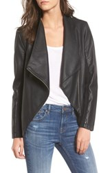 Bb Dakota Women's Gabrielle Faux Leather Asymmetrical Jacket Black