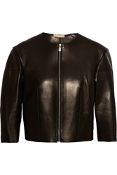 Michael Kors Leather Jacket Black