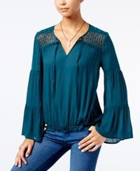 American Rag Bell Sleeve Peasant Top Only At Macy's Teal