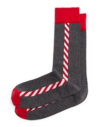 Jonathan Adler Santa's Pole Knit Socks Gray Grey