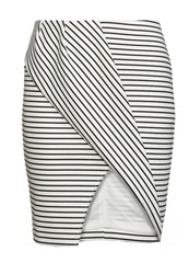 Finders Keepers Tightrope Mini Skirt Black White