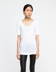 Alexander Wang Classic Tee With Pocket In White
