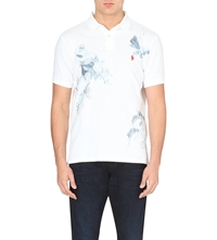 Ralph Lauren Printed Custom Fit Polo Shirt White