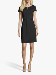 Betty And Co. Belted Shift Dress Dark Sapphire