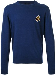 Lanvin Embroidered Detail Jumper Blue