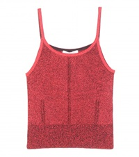Christopher Kane Metallic Tank Top Red
