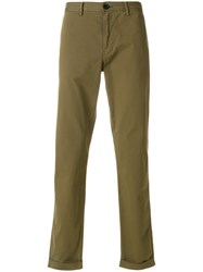 Paul Smith Ps By Chino Trousers Men Spandex Elastane Supima Cotton 33 Green
