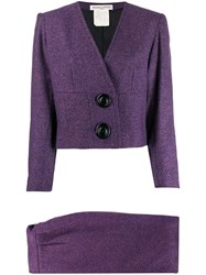 Balmain Pre Owned 1980S Tweed Two Piece Suit 60
