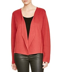 Eileen Fisher Plus Open Front Cardigan Red Saffron