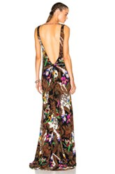 Etro Backless Printed Maxi Dress In Brown Floral Brown Floral