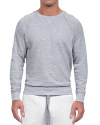 2Xist Active Core Woven Crewneck Sweatshirt Light Gray Men's Ltgrey