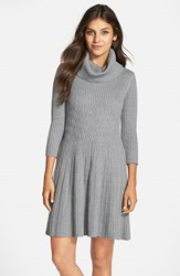 Women's Eliza J Cowl Neck Fit And Flare Sweater Dress