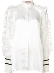 Maggie Marilyn Ruffled Sleeve Blouse White