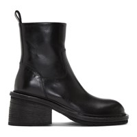 Ann Demeulemeester Black Lug Sole Boot