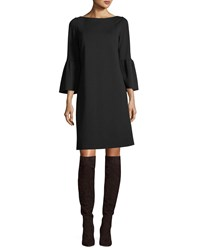 Lafayette 148 New York Marissa 3 4 Bell Sleeve Punto Milano Dress Black