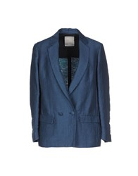 Gold Case Suits And Jackets Blazers Women Pastel Blue