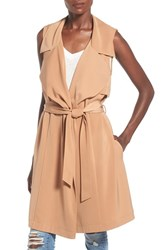 Women's June And Hudson Sleeveless Draped Trench Jacket