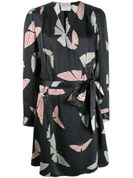 Forte Forte Silk Printed Wrap Dress Grey