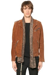 The Kooples Suede Leather Biker Jacket