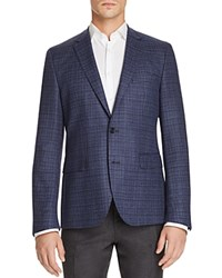 Hugo Boss Marl Regular Fit Sport Coat Blue Black White