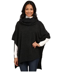 Dylan By True Grit Free Spirit Sweater Cowl Poncho Black Women's Coat