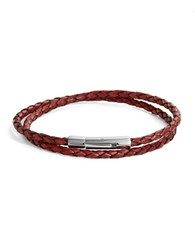 Zack Bolo Leather Bracelet Red
