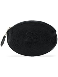 Il Bisonte Oval Zipped Purse Black