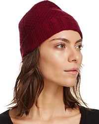 Bloomingdale's C By Waffle Knit Cashmere Hat Pinot