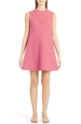 Valentino Women's Wool And Silk Crepe A Line Dress Paradise Rose