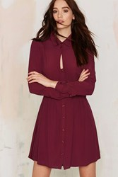 Nasty Gal Keyhole In One Button Up Dress