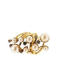 Erickson Beamon Stratosphere Crystal And Faux Pearl Ring