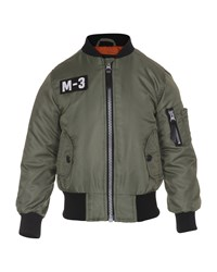 Molo Zip Front Bomber Jacket Green