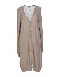 Liviana Conti Cardigans Light Grey