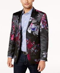 Tallia Orange Slim Fit Black Blue And Red Floral Print Dinner Jacket 656