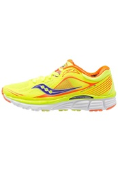 Saucony Kinvara 5 Lightweight Running Shoes Citron Orange Purple Yellow