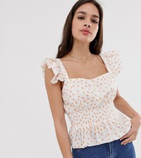 Cleobella Exclusive Aria Blouse With Cinched Waist White