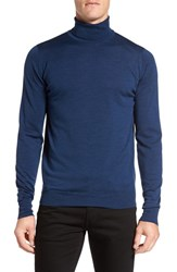 John Smedley Men's 'Richards' Easy Fit Turtleneck Wool Sweater Indigo