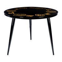 Fornasetti Chiavi Gold Table 60Cm Dia