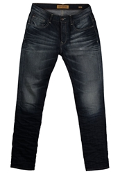 Petrol Industries Turner Slim Fit Jeans Vintage Blue Black Denim
