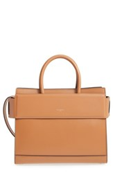 Givenchy 'Small Horizon' Calfskin Leather Tote Brown Caramel