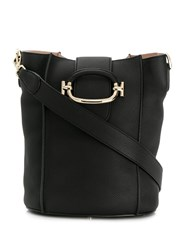 Tod's Tt Ring Bucket Bag Black