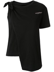Ground Zero Knotted T Shirt Black