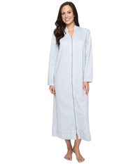 Carole Hochman Quilted Zip Robe Grey Heather Women's Robe Gray
