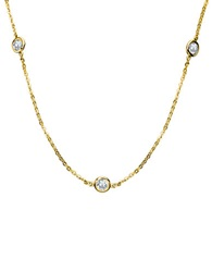 Crislu 18Kt. Gold Tone And Cubic Zirconia Station Necklace
