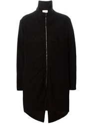 Lost And Found Rooms Funnel Neck Zip Coat Black