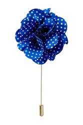Michelson's Polka Dot Lapel Pin Blue