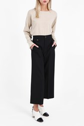 Helmut Lang Women S High Waist Cropped Trousers Boutique1 Black
