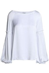 Bailey 44 Blood Bond Gathered Sateen Blouse White